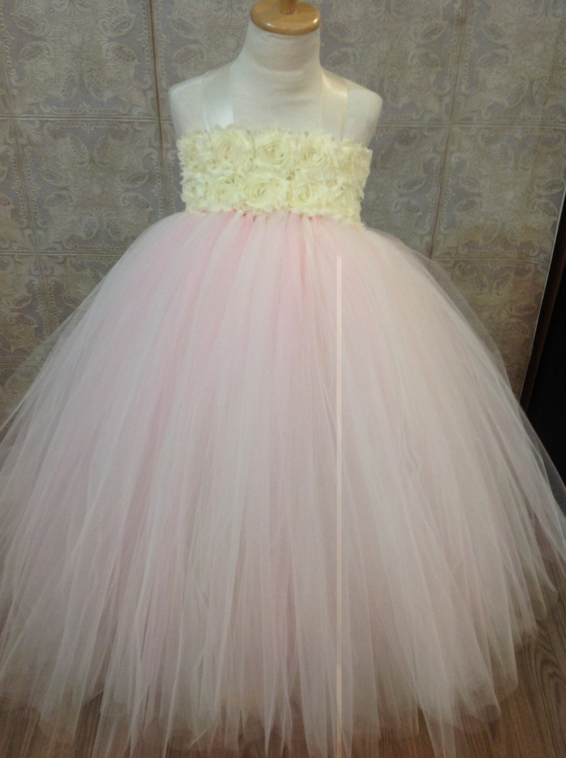 Flower Girl Pink Tutu Dress Pink Tutu Dress Blush Flower Girl Dress Pink Flower Girl Dress Flower Girl Tutu Dress Girls Wedding Dress