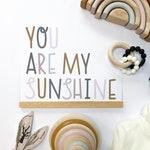 You Are My Sunshine Print | Framed or Unframed Print, Nursery Art, Kids Room Decor, Neutral Nursery, Playroom Art, Rainbow Themed, Scandi