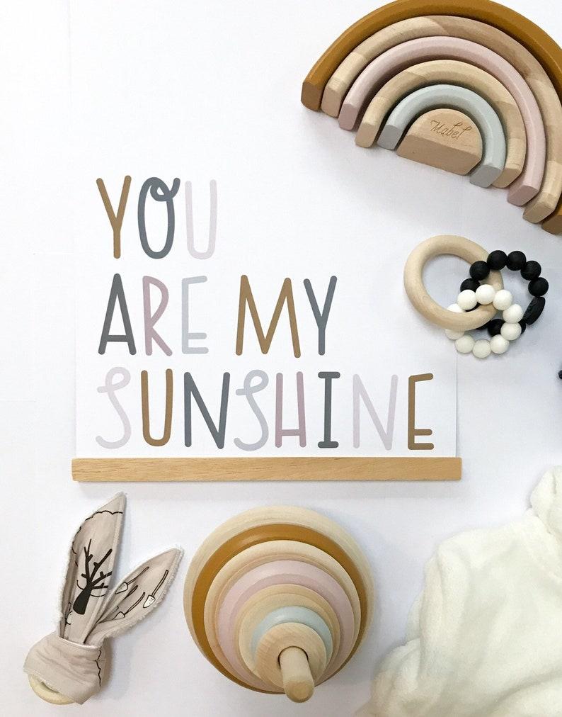 You Are My Sunshine Print  Framed or Unframed Print Nursery image 0