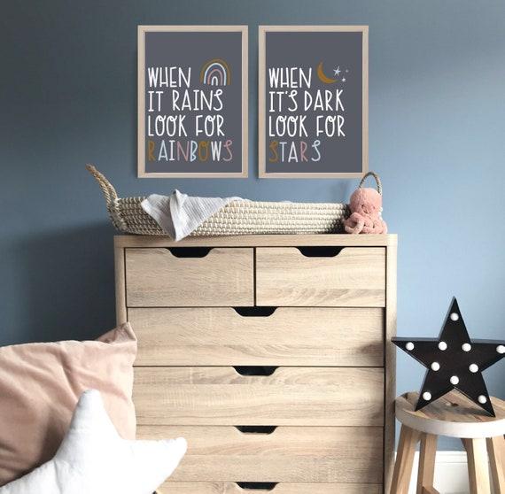 Nursery print It/'s cool  to be kind print navy /& mustard Motivational wall art