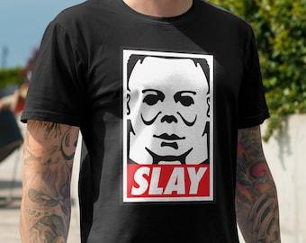 Slay/Obey Giant Michael Myers (Halloween 1978 - 2018) mash-up - Unisex/Mens - John Carpenter Horror 2XL 3XL 4XL new movie