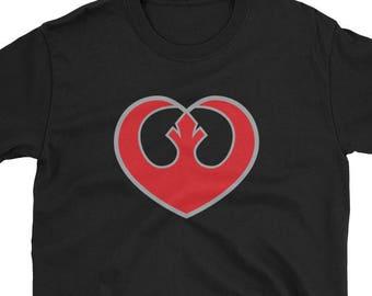 Rebel Heart Unisex/Men's Tee - Star Wars, Rebel Alliance, Leia