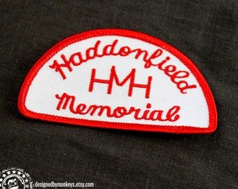 Halloween 2 HMH embroidered patch -- Michael Myers, screen accurate Haddonfield Memorial Hospital paramedics ambulance collectible