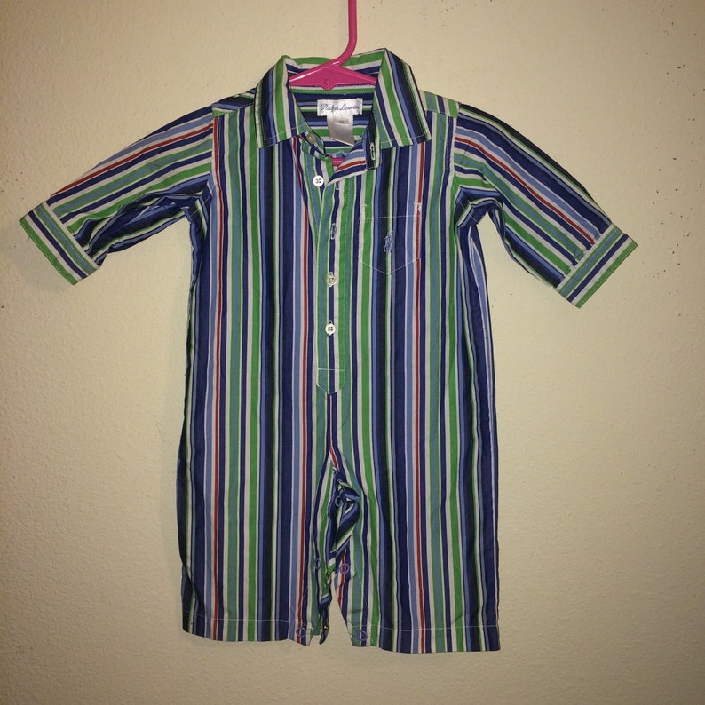 497e9c419 6M 1990s Ralph Lauren Onesie Summer Pin Striped VeryGood | Etsy