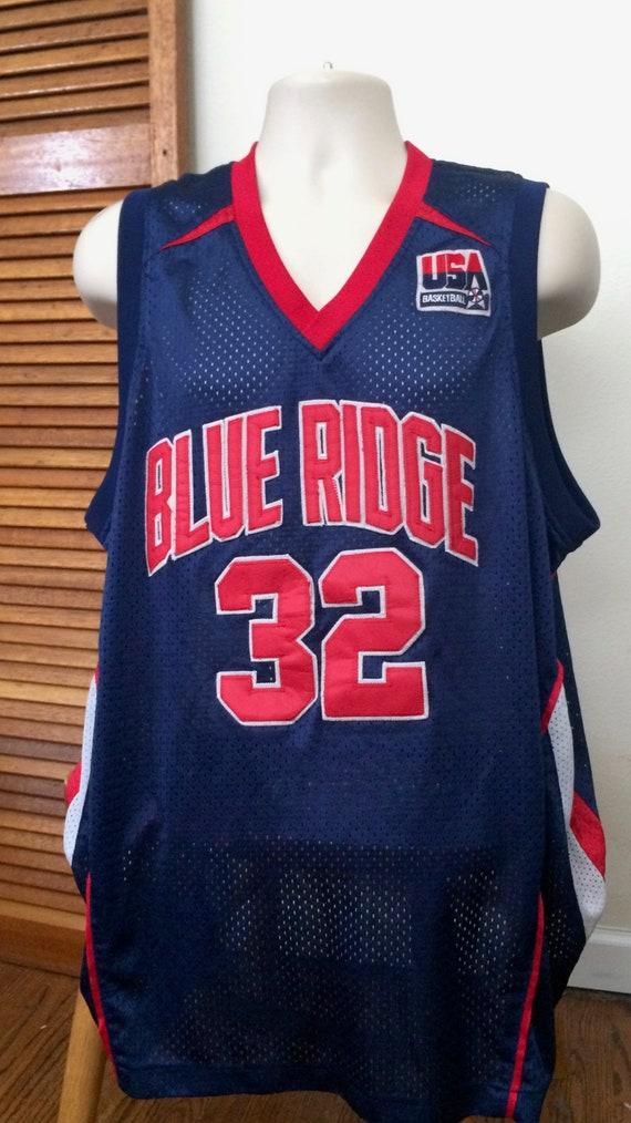"""Blue Ridge Basketball USA Patch """"Dubble M"""" #32 Jer"""