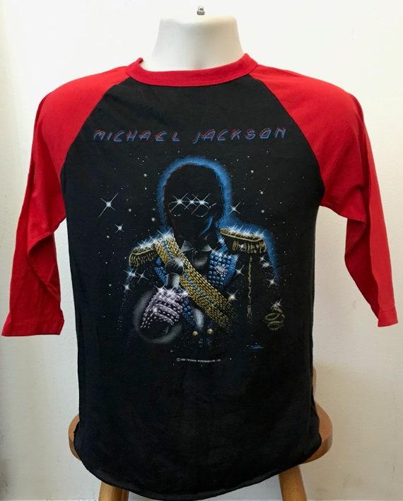Authentic 1984 Michael Jackson Concert T shirt Vin