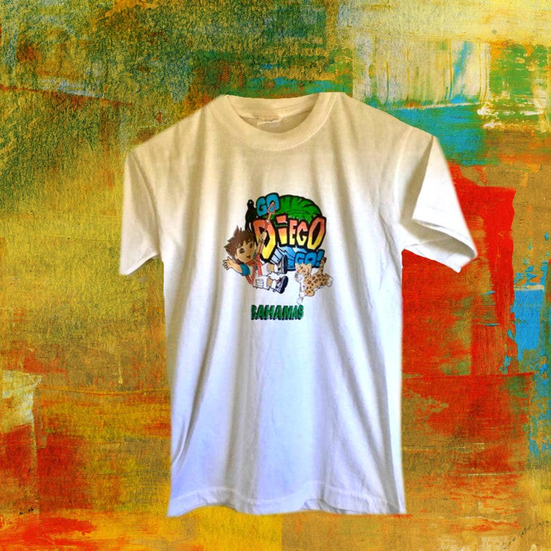 Modern Day size Boys and Girls Size 8 T shirt Diego in the Bahamas Travel Souvenir Youth Size 78 T shirts New Vintage
