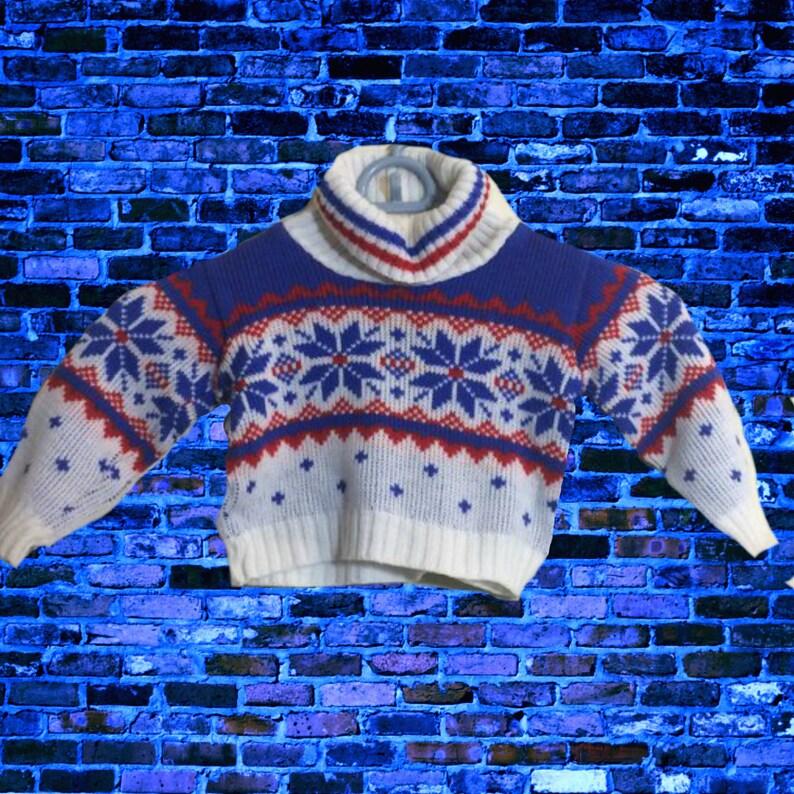 af5cebd0a 12-18M Made in Japan Vintage Snowflake Sweater Japan EVC