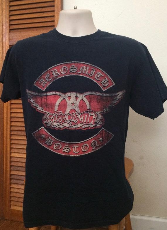Adult Men/'s White Music Rock Band Aerosmith Aero Force Short Sleeve T-Shirt Tee