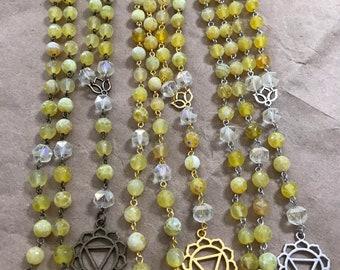 Manipura chakra prayer beads