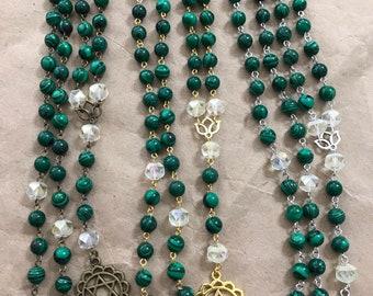 Anahata chakra prayer beads