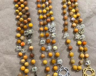 Svadhisthana chakra prayer beads