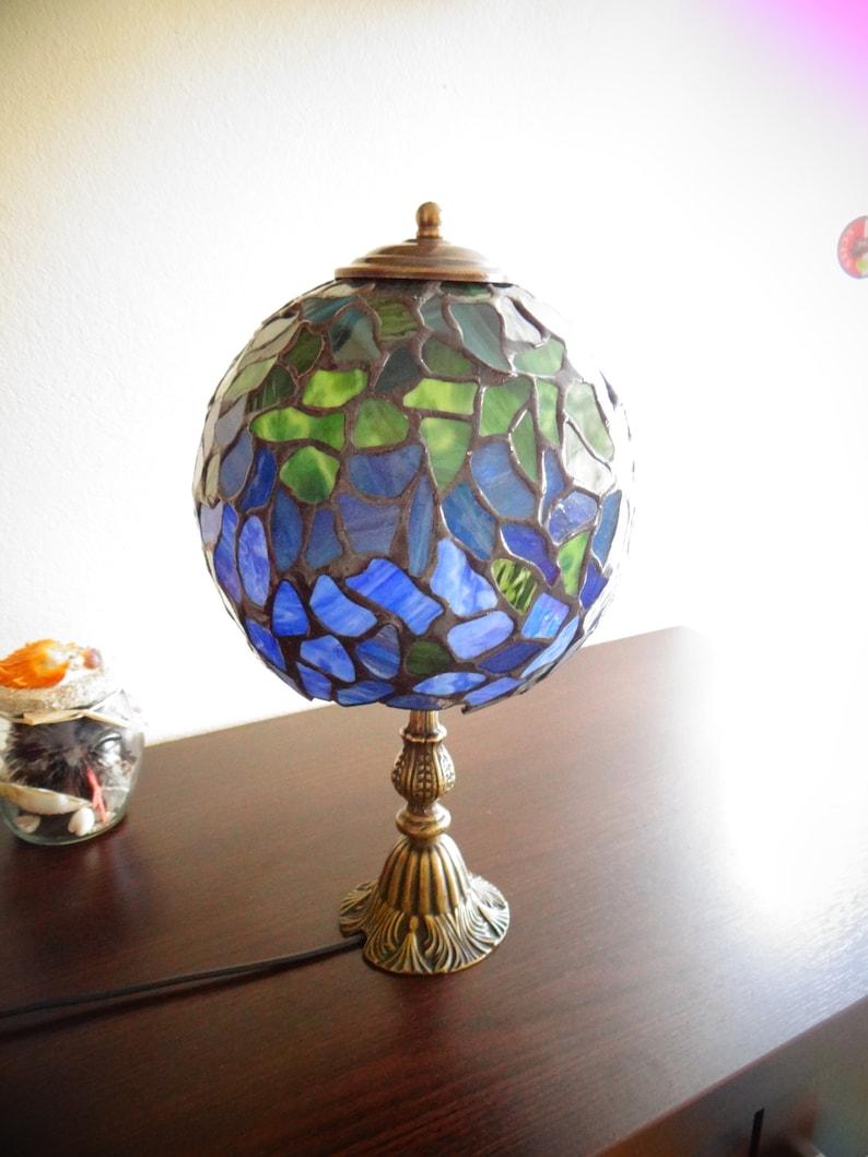 Vert Bleu Style 8 Bureau Tiffany Lampe Et Tc1F3lKJ