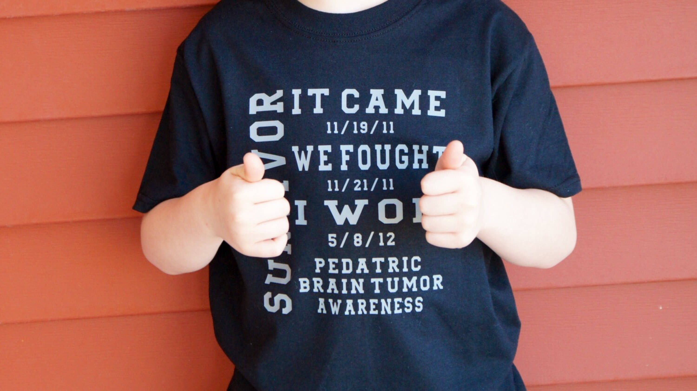 f1beb936 Pediatric Brain Tumor Awareness Shirt Youth Brain Tumor Youth | Etsy