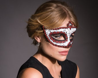 Sugar Skull Mask, Masquerade Mask, Day of the Dead Mask, Halloween Mask, Dia De Los Muertos Mask, Halloween Costume, Dress Up, Fancy dress