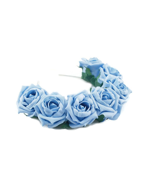 Blue rose flower crown blue rose headband blue flower crown etsy image 0 izmirmasajfo