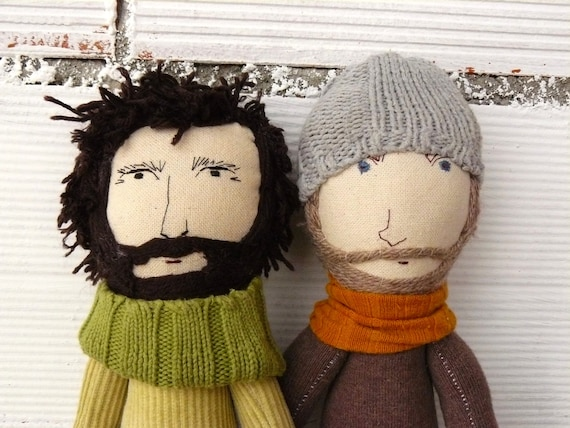 Rag doll man or woman LIKE YOU. 35 cm. Cloth doll. Personalized dolls.