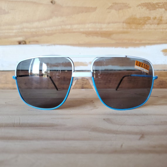 80s Aviator Sunglasses, Vintage Men Sunglasses, Sq