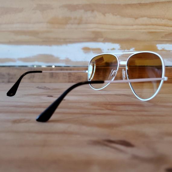 Vintage Red Aviator Sunglasses, 80s Men Women Sun… - image 5