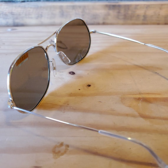 80s Round Aviator Sunglasses, Vintage Man Woman S… - image 5