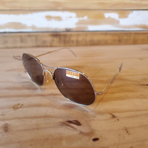 80s Round Aviator Sunglasses, Vintage Man Woman S… - image 6