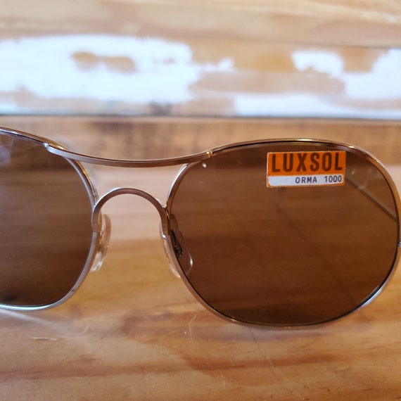 80s Round Aviator Sunglasses, Vintage Man Woman S… - image 4