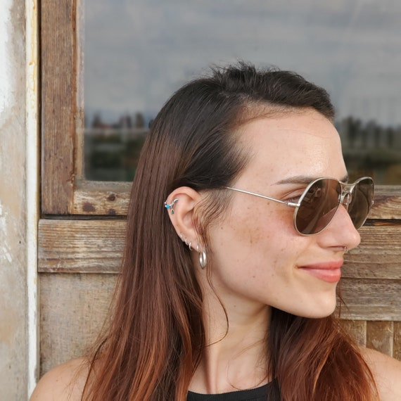 80s Round Aviator Sunglasses, Vintage Man Woman S… - image 8