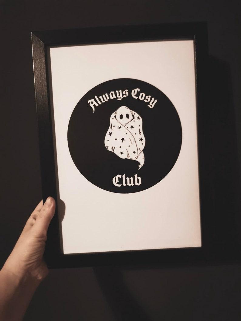 Always Cosy Club Spooky Print image 0