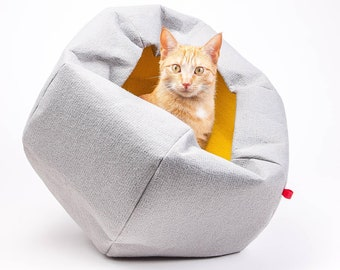 cat ball 2in1, upcycling, cat cave, cat house, cat bed, cat, animal bed, felt, felt cave