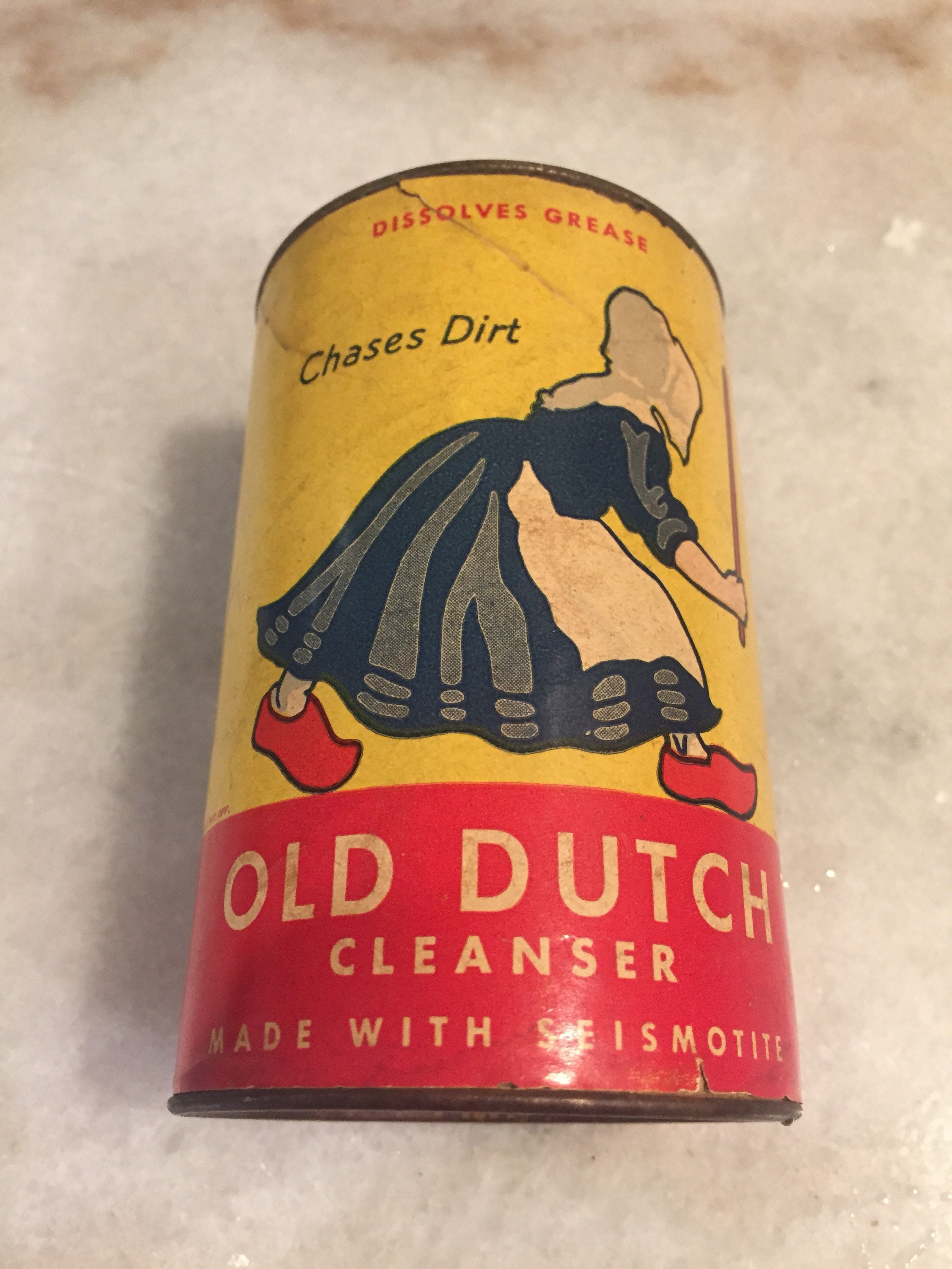 1940s Old Dutch Cleanser Can   Etsy