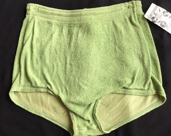 143b98c005 Mens vintage 40s 50s swim trunks vibrant sage green bathing suit Pilgrim  Sears Roebuck 28-36