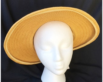 789f1c91e 1940s straw hat | Etsy