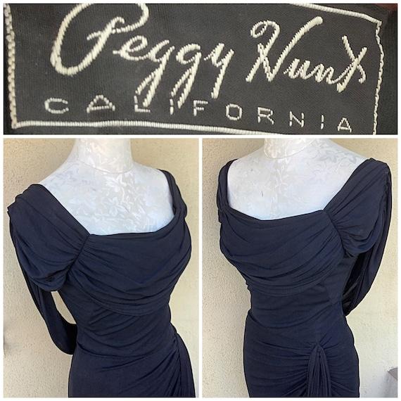Peggy Hunt designer 40s 50s vintage charcoal drap… - image 4