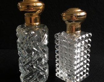 Pair - Vintage STEP Perfume Bottles