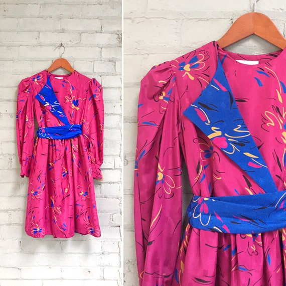 vintage 1980s floral mini dress / 80s DEADSTOCK ne