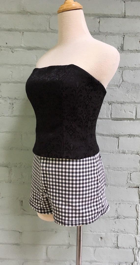 vintage 1980s bustier top / 1980s corset top / 19… - image 4