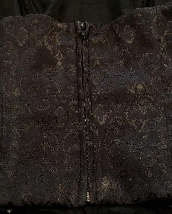 vintage 1980s bustier top / 1980s corset top / 19… - image 5