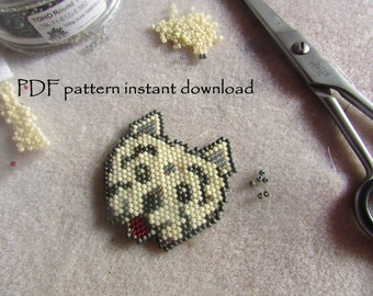 Westie Dog West Highland Terrier ornament Brick Stitch Bead Pattern PDF instant download dog lover pattern