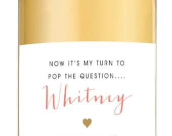 Custom Be My Bridesmaid Wine Labels - Bridesmaid Gift  Will You Be My Bridesmaid
