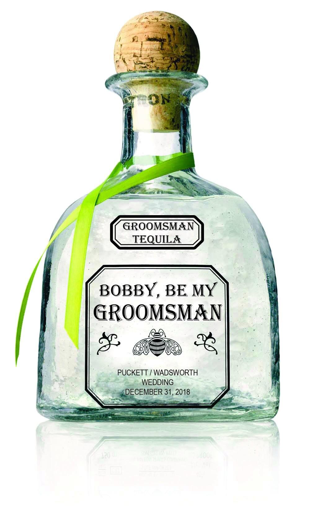 Groomsman Patron 750 or 375mL labels