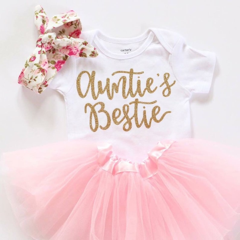 574e208a6beb1 Aunties Bestie outfit Baby girl clothes aunties bestie Shirt | Etsy