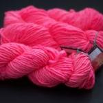 Purr Sister Pink - Hand dyed bulky yarn - pink yarn - bulky yarn - single ply bulky - pussy hat yarn - soft yarn - super wash merino yarn