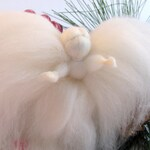 Peace Fairy, Woolly angel fairy holiday ornament, ethereal, Waldorf, Steiner inspired woodland winter decoration