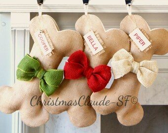 Ready to ship CHRISTMAS STOCKING, Personalized Christmas Stocking, Family Christmas Stockings, burlap Stocking,