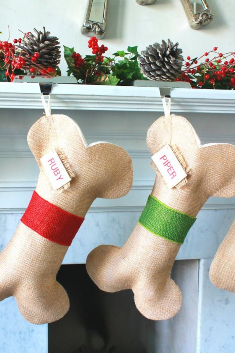 Personalized Cat Christmas stocking CAT CHRISTMAS STOCKING Fish Stocking Pet Stocking Pets Burlap cat Stocking Stocking for Pet Lovers