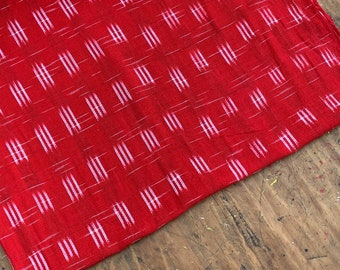 Handmade Fabric  from Guatemala #121 100/% Cotton Red Mayan Stripes Sold by yard