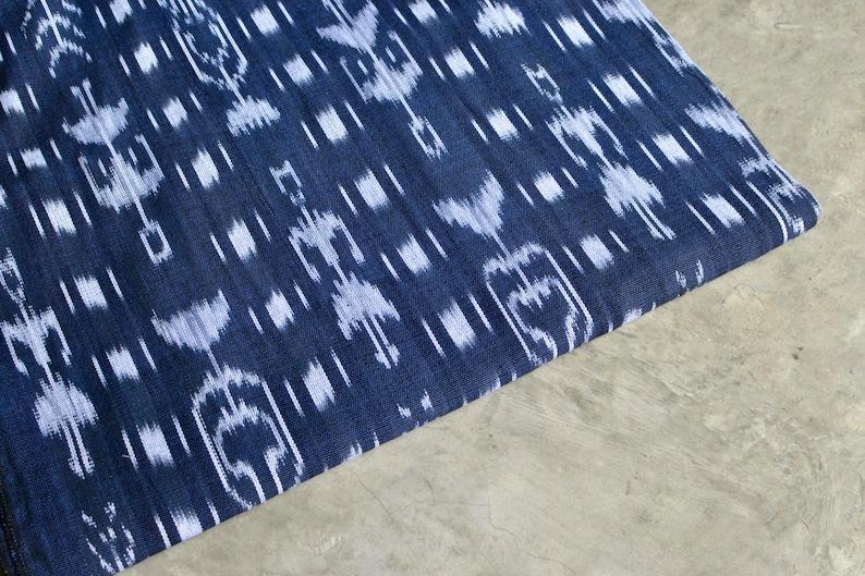 Ikat Fabric 1  Ethnic Fabric from Guatemala  Cotton image 0