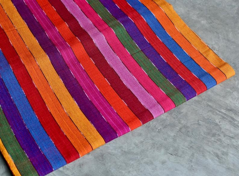 Bunt Gestreifte Regenbogen Stoff 8 Aus Südamerika Etsy
