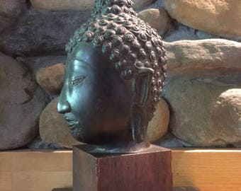 Bronze Antique Buddha from Cambodia-Very Old owned by CNN News Correspondent