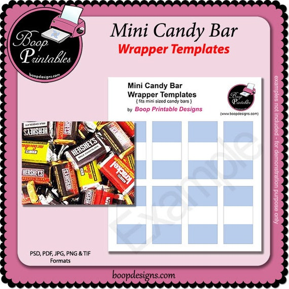 Download free candy bar wrappers